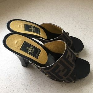 100% Authentic Vintage Fendi Heels/ sandals